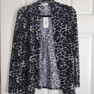 Animal print light jacket